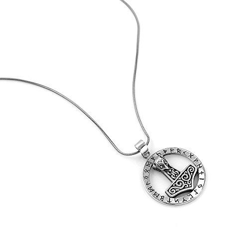 925 Sterling Silver The Hammer Of Thor Mjlnir Viking Symbol Pendant